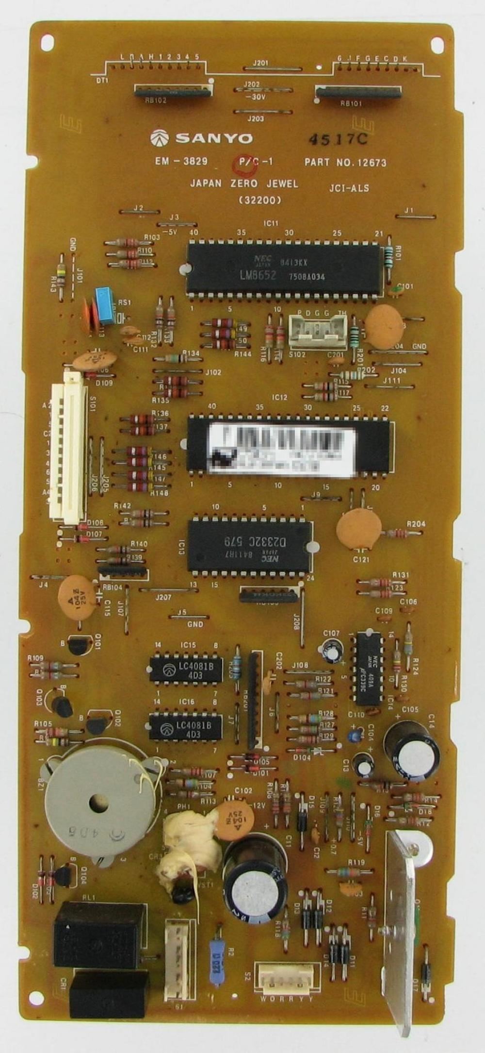 Sanyo Microwave Control Board 12673R by Premium Power